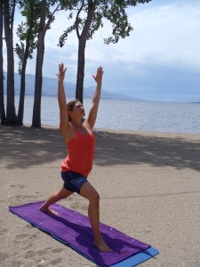 Yoga at Gyro Beach, Kelowna, Bc