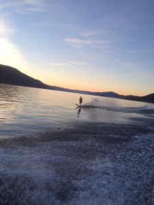 I love water skiing!