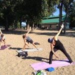 Yoga at Gyro Beach, Kelowna
