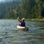 Kayaking on Enderby river